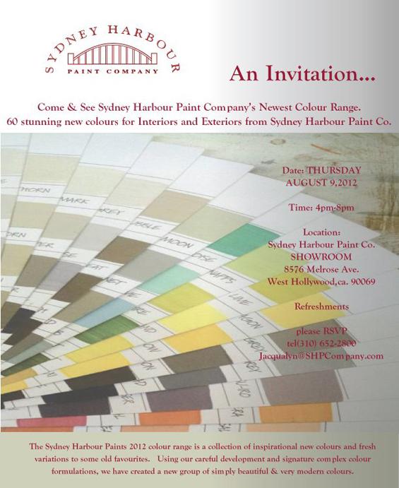 Sydney Harbor Invitiation