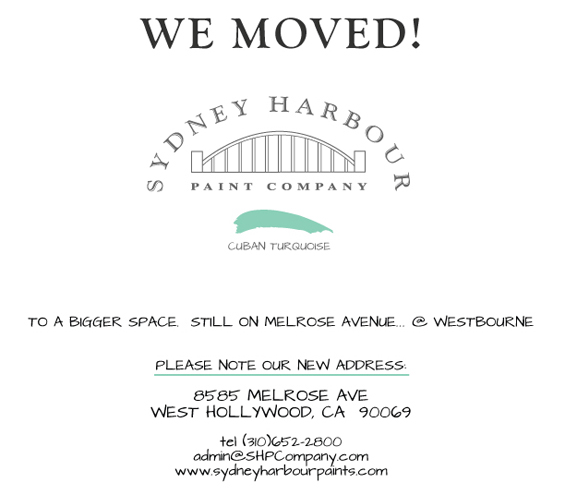 Sydney Harbour Paint Company Has Moved