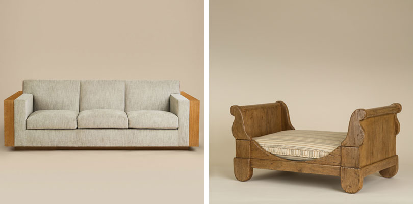 Rose Tarlow Library Sofa and Ollie Dog Bed