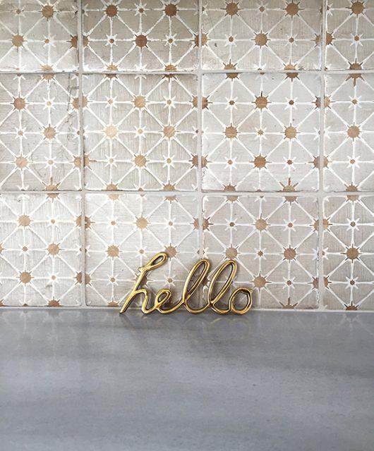 Tabarka Studio RDR Backsplash - Hello