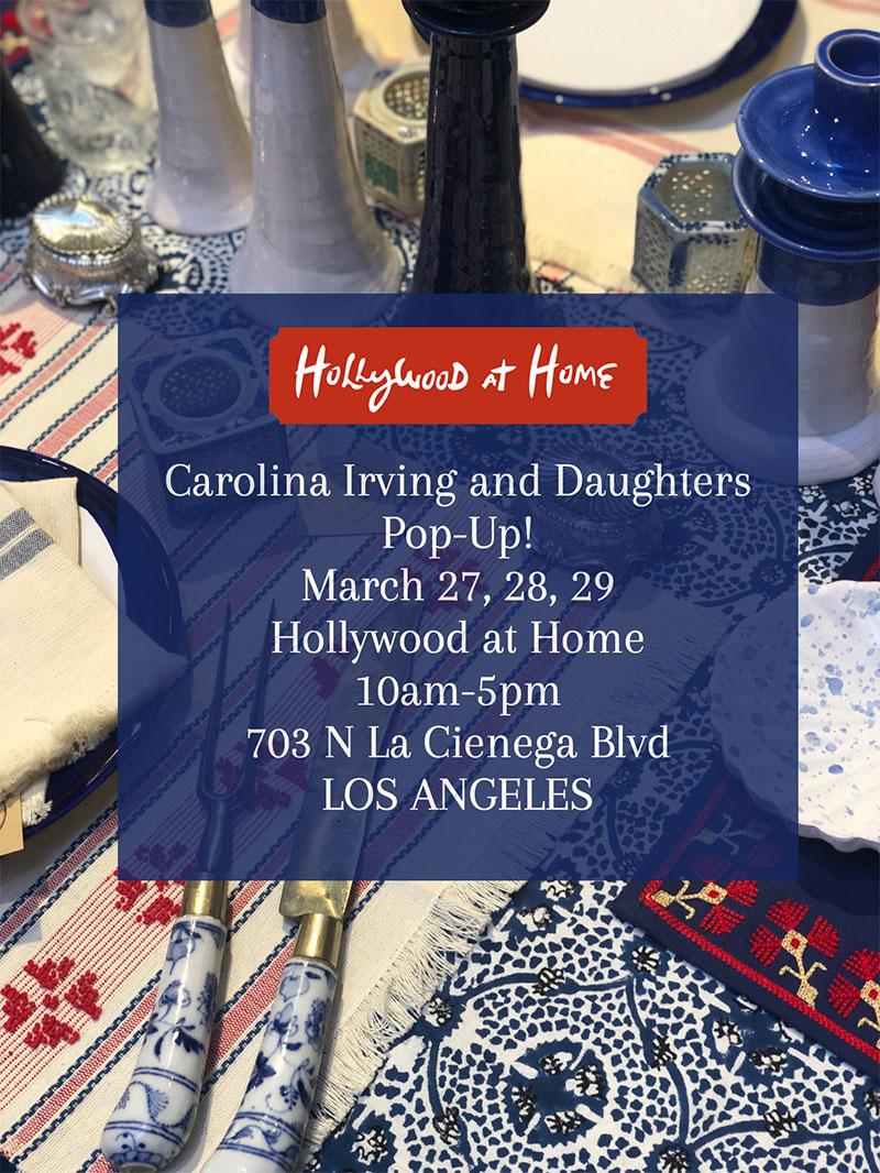 Carolina Irving and Daughters Pop-Up