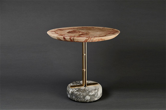 Limited-edition spalted beech wood tabletop at Una Malan