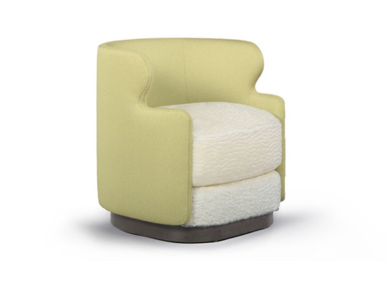 Phebe Swivel Chair, designed by Robert Marinelli at Una Malan